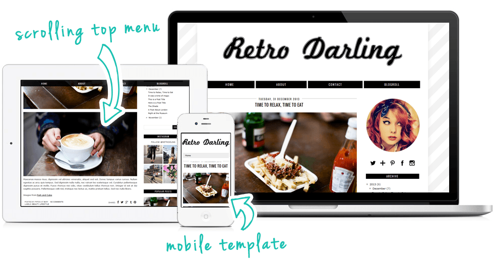retro blogger template