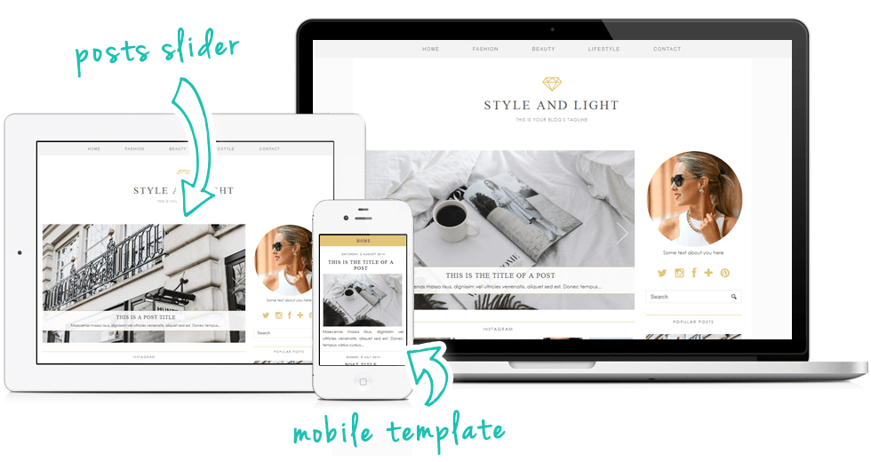 Designer blog template