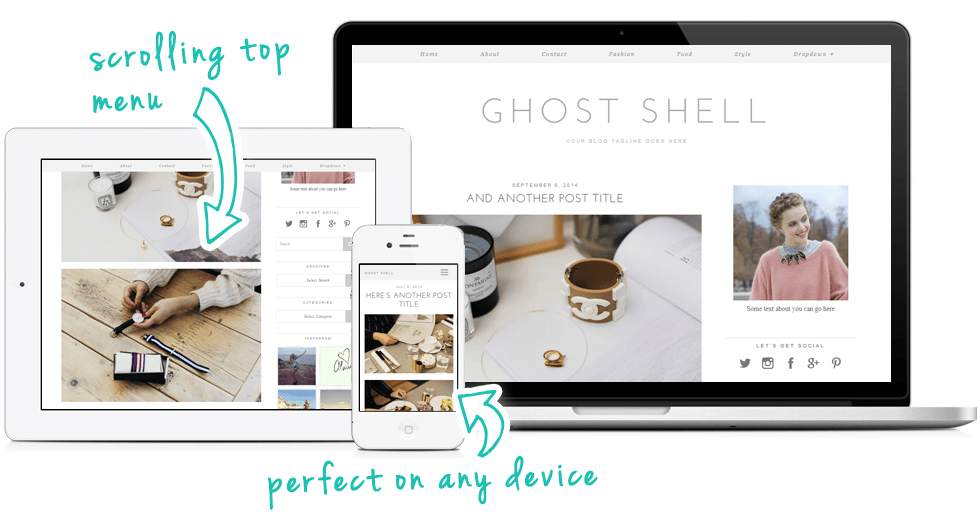 WordPress Theme: Ghost Shell | Blog Themes by pipdig