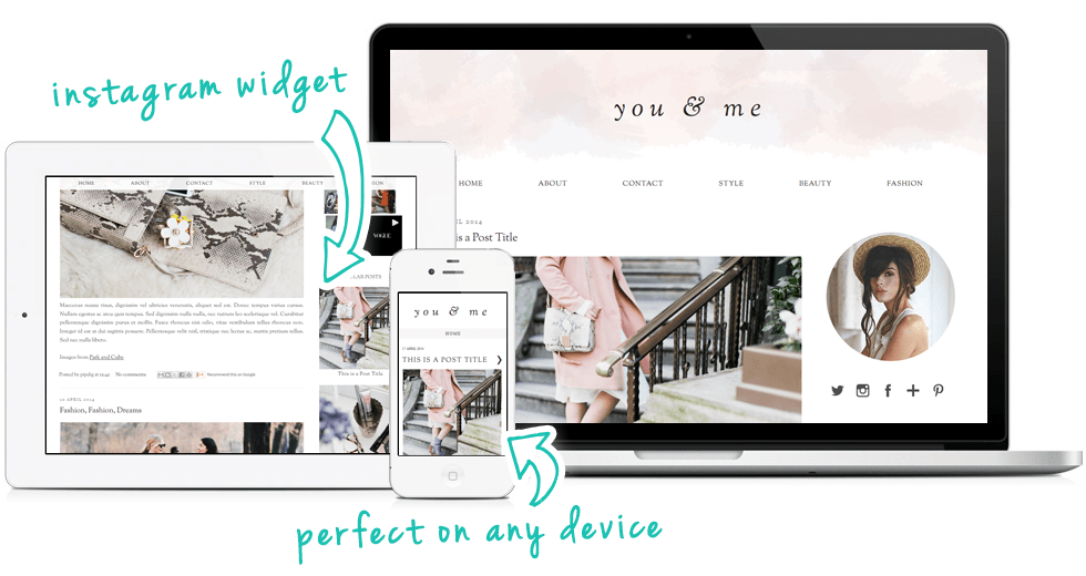 A soft, pastel coloured WordPress theme