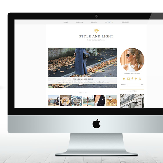 Luxury Blogger Template