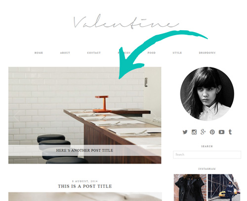 Valentine WordPress Theme with Slider