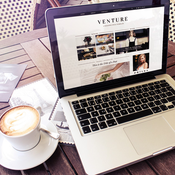 Magazine Style Blogger Template