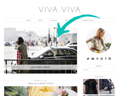 Viva WordPress Theme slider
