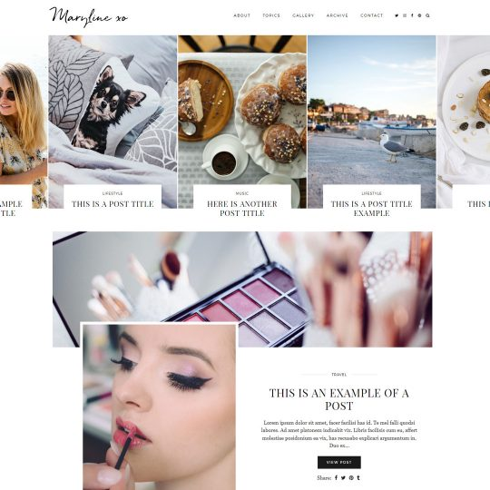 WordPress Theme: Maryline
