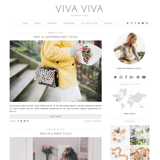 WordPress Theme: Viva Viva