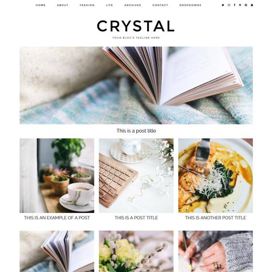 WordPress Theme: Crystal