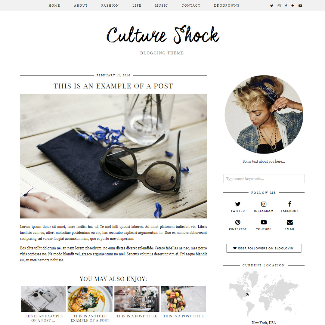 WordPress Theme: Culture Shock