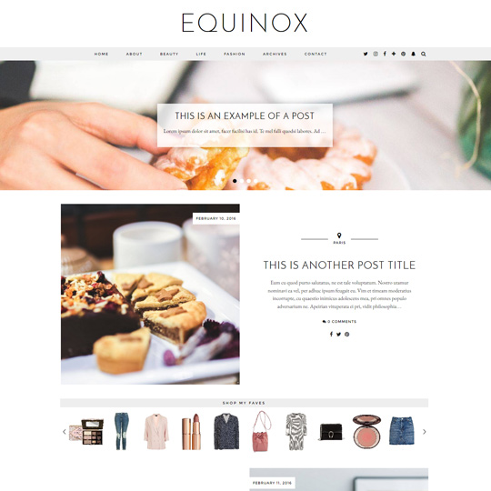 WordPress Theme: Equinox