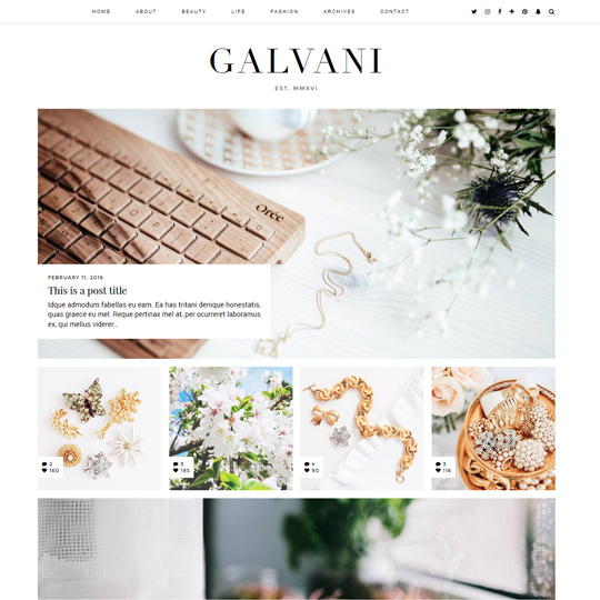 WordPress Theme: Galvani