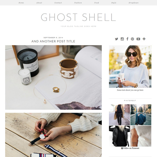 Wordpress Theme: Ghost Shell