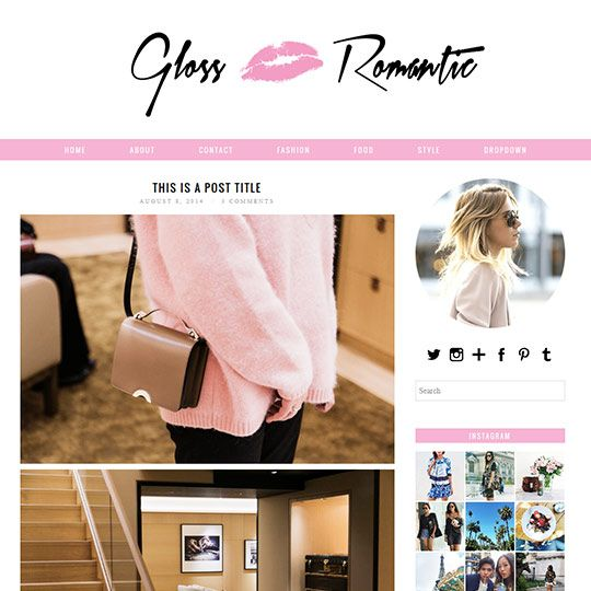 WordPress Theme: Gloss Romantic