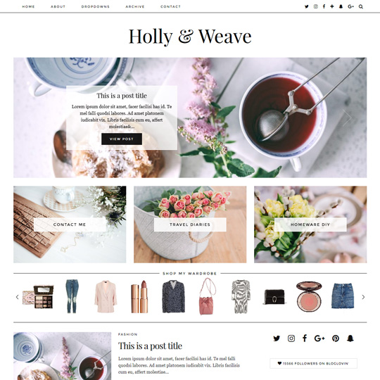 WordPress Theme: Holly & Weave