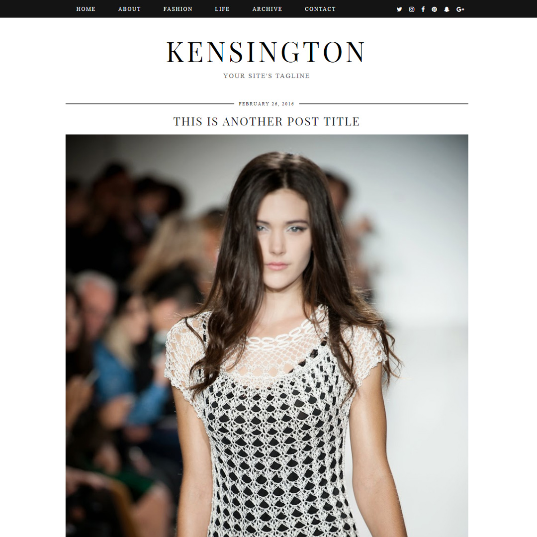 WordPress Theme: Kensington