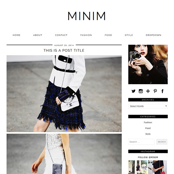 Minimal Wordpress Theme: MINIM