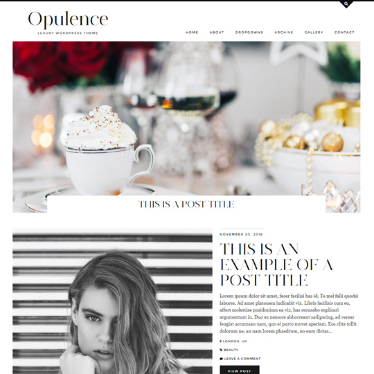 WordPress Theme: Opulence