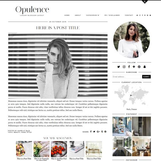 Opulence Theme