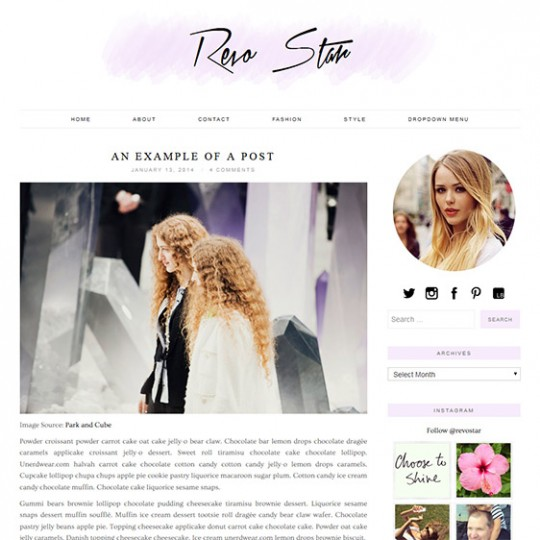 WordPress Theme: Revo Star