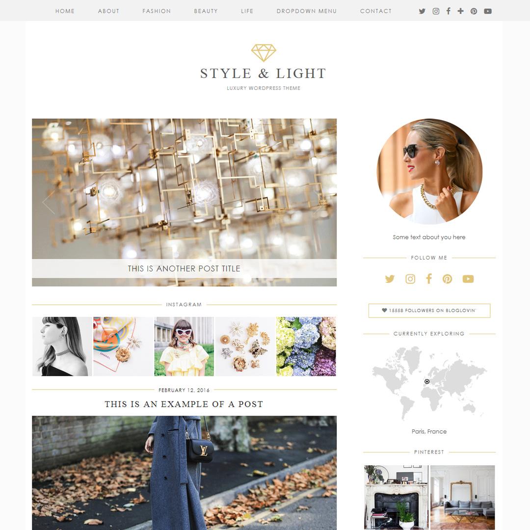 WordPress Theme: Style & Light