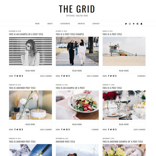 WordPress Theme: The Grid