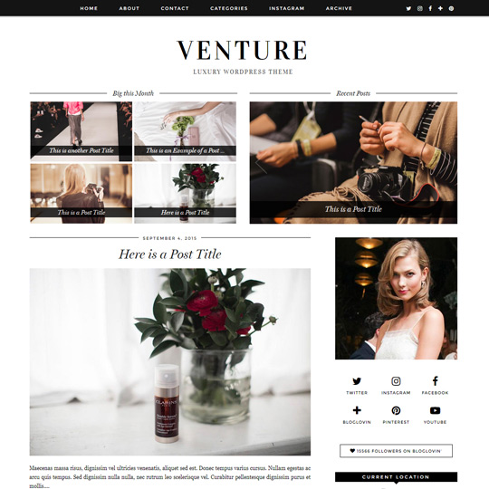 WordPress Theme: Venture