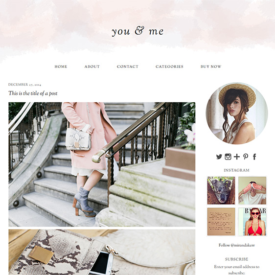 Wordpress Theme: you & me