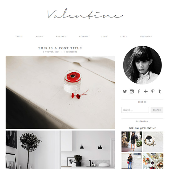 WordPress Theme: Valentine